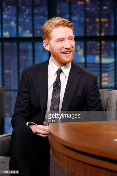 Actor Domhnall Gleeson during an interview on October 10 2017