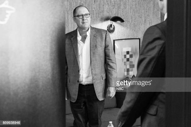 MEYERS Episode 592 Pictured Actor James Spader backstage on October 10 2017