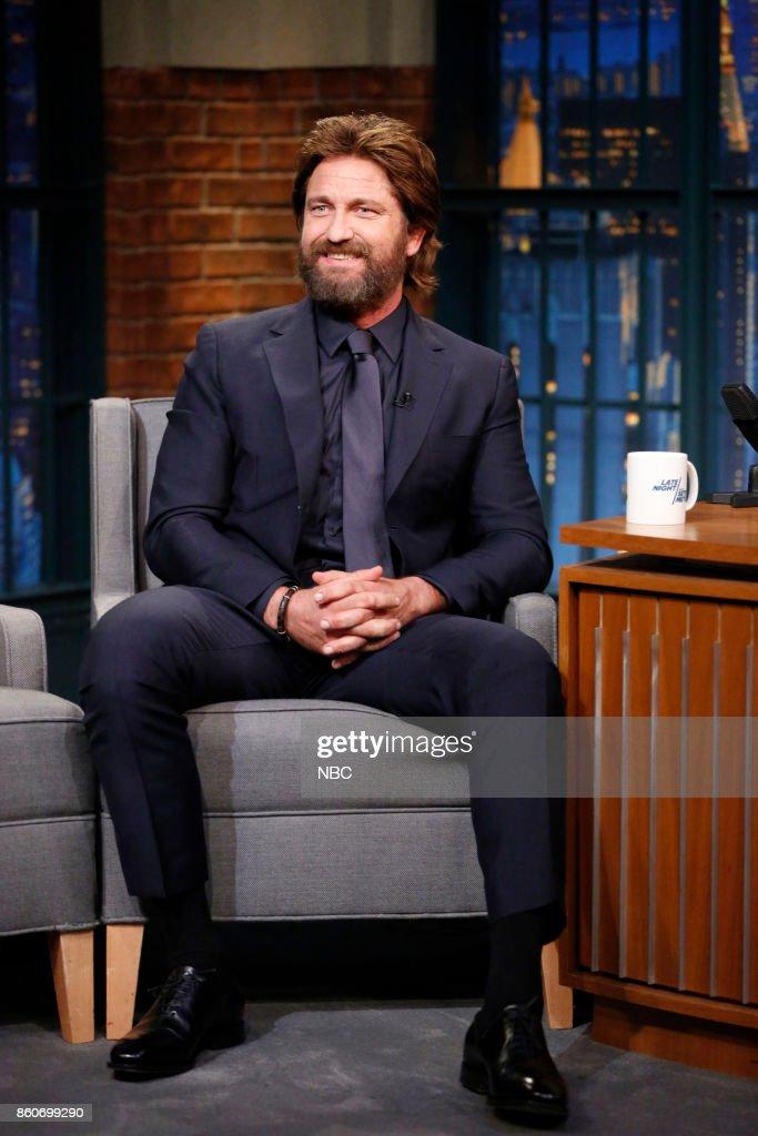 Actor Gerard Butler on October 12, 2017 --