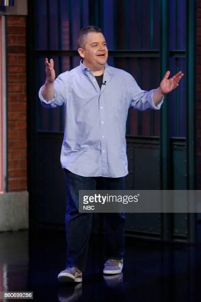 Comedian Patton Oswalt arrives on October 12 2017