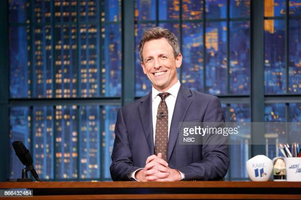 Host Seth Meyers during the monologue on October 25 2017