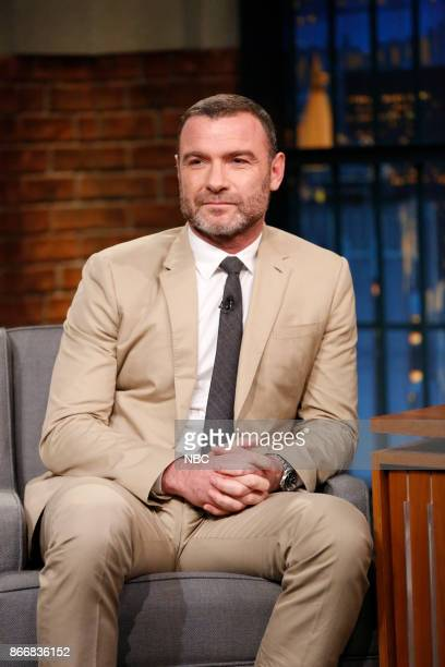 Actor Liev Schreiber during an interview on October 26 2017