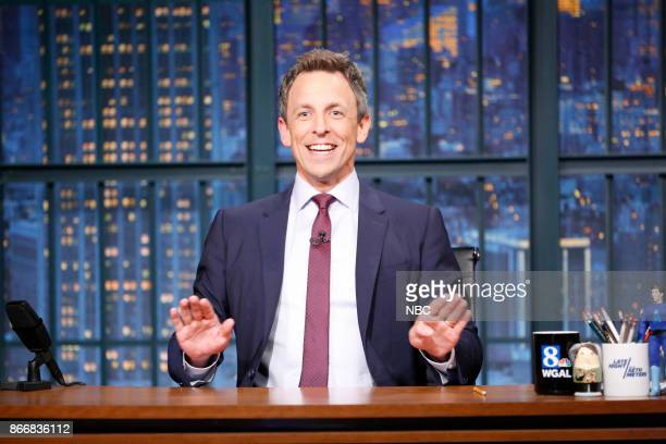 Host Seth Meyers during the monologue on October 26 2017