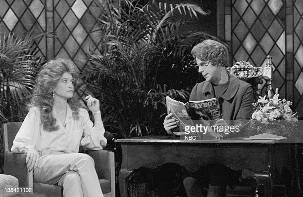 LIVE Episode 6 Air Date Pictured Jan Hooks as Jessica Hahn Dana Carvey as Church Lady during the Church Chat skit