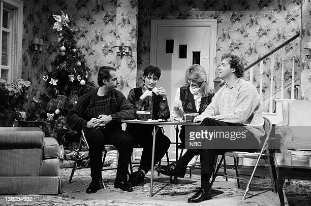 LIVE Episode 6 Air Date Pictured Jon Lovitz as guest Nora Dunn as guest Teri Garr as mother Randy Quaid as father during 'Time Machine Trivia Game'...