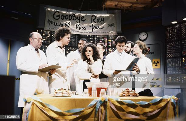 Andy Breckman as employee Rich Hall as employee Julia LouisDreyfus as Ann Gary Kroeger as Stev Mary Gross as waitress during You Can't Put Too Much...