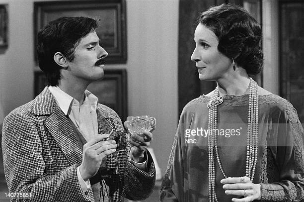 Gary Kroeger as Jas Mary Gross as Lady Marjorie Mayne during the 'Masterful Theatre' skit on November 13 1982 Photo by NBC/NBCU Photo Bank