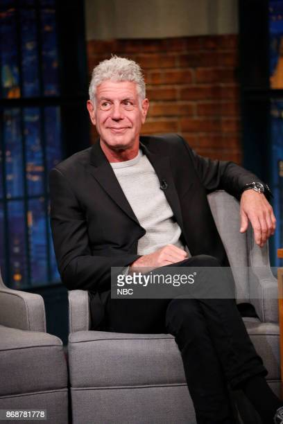 TV personality Anthony Bourdain during an interview on October 31 2017