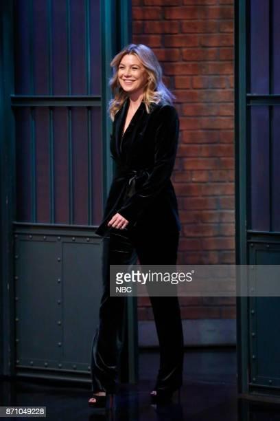 Actress Ellen Pompeo arrives on November 3 2017