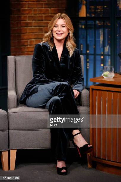 Actress Ellen Pompeo during an interview on November 3 2017