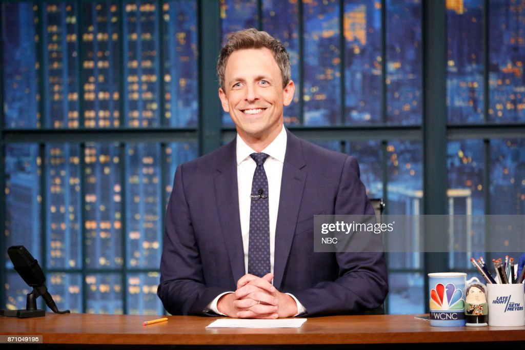 """NBC's """"Late Night with Seth Meyers"""" With Guests Ellen Pompeo, John Leguizamo, Jhene Aiko"""