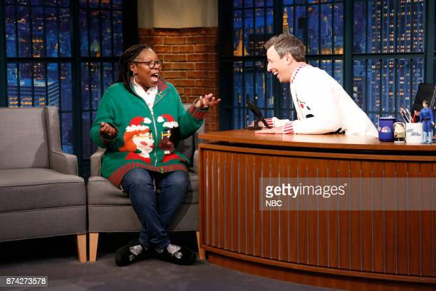 Actress Whoopi Goldberg talks with host Seth Meyers during an interview on November 14 2017
