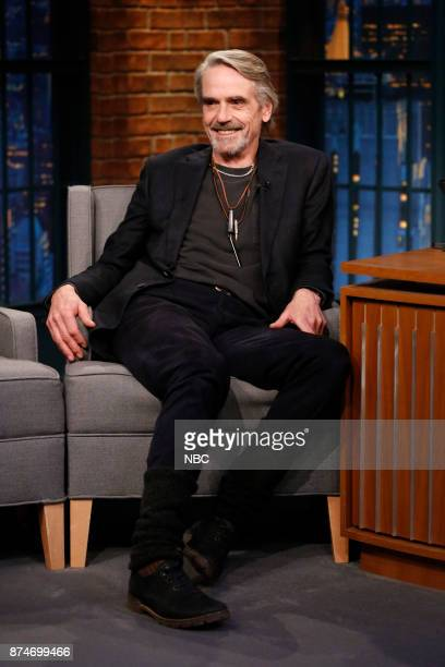 Actor Jeremy Irons during an interview on November 15 2017