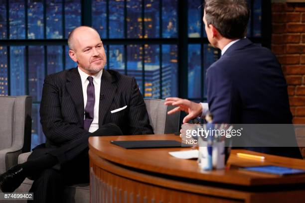 Sports journalist Rich Eisen talks with host Seth Meyers during an inteview on November 15 2017