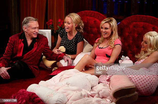 Playboy's Hugh Hefner girlfriends Kendra Wilkinson Bridget Marquardt Holly Madison