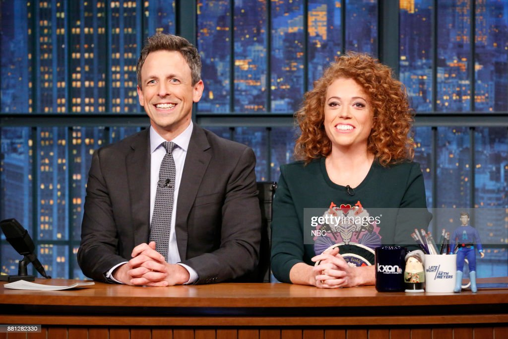 "NBC's ""Late Night With Seth Meyers"" With Guests Saoirse Ronan, Rachel Brosnahan, Michelle Wolf"