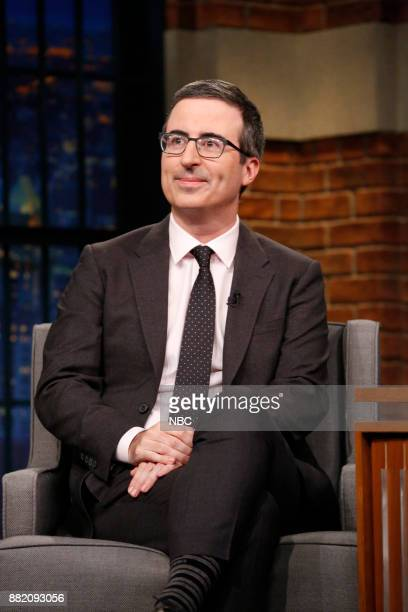 Comedian John Oliver during an interview on November 29 2017