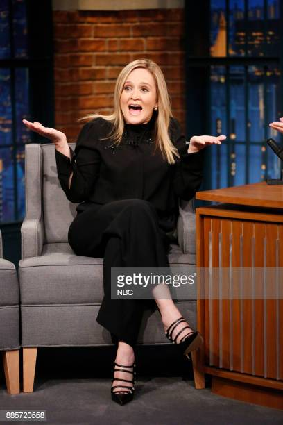 Comedian Samantha Bee during an interview on December 4 2017