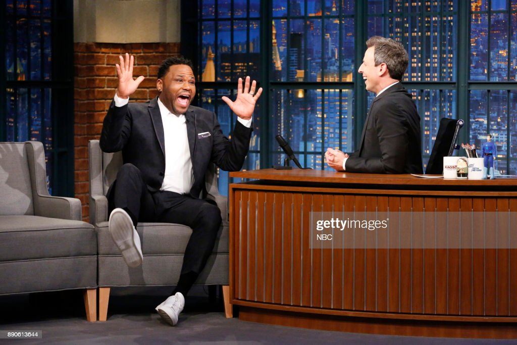 "NBC's ""Late Night with Seth Meyers"" With Guests Anthony Anderson, Hong Chau, Amanda Seales"