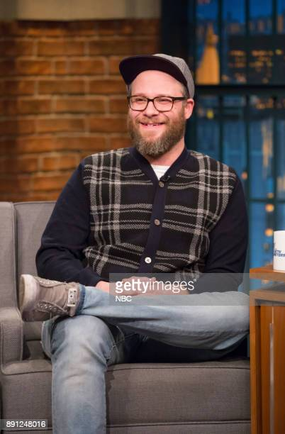 Comedian Seth Rogen during an interview on December 12 2017