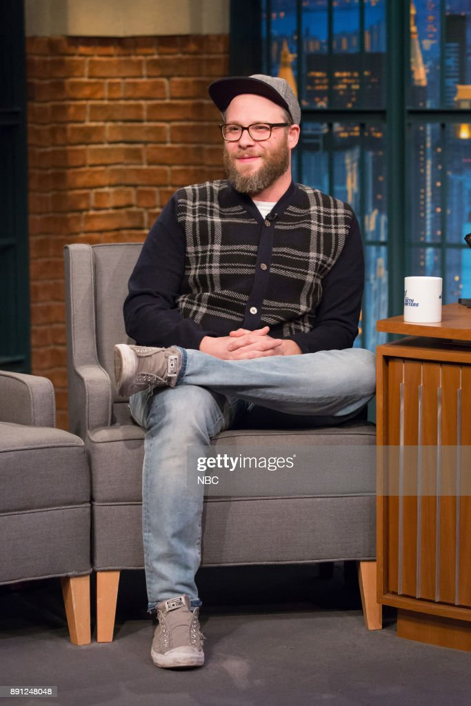 Comedian Seth Rogen during an interview on December 12, 2017 --