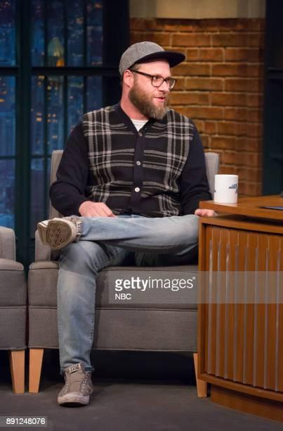 Comedian Seth Rogen during an interview on December 12 2017