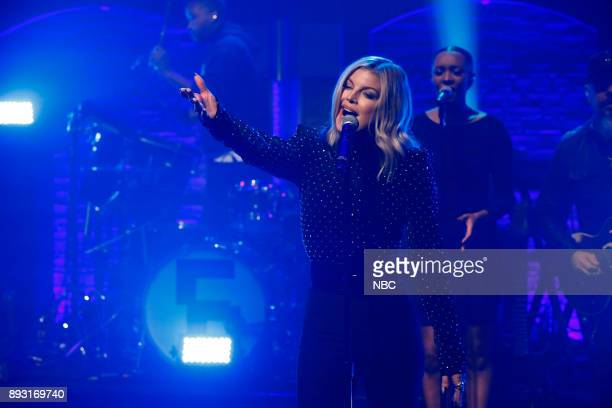 Episode 626 -- Pictured: Musical guest Fergie performs on December 14, 2017 --