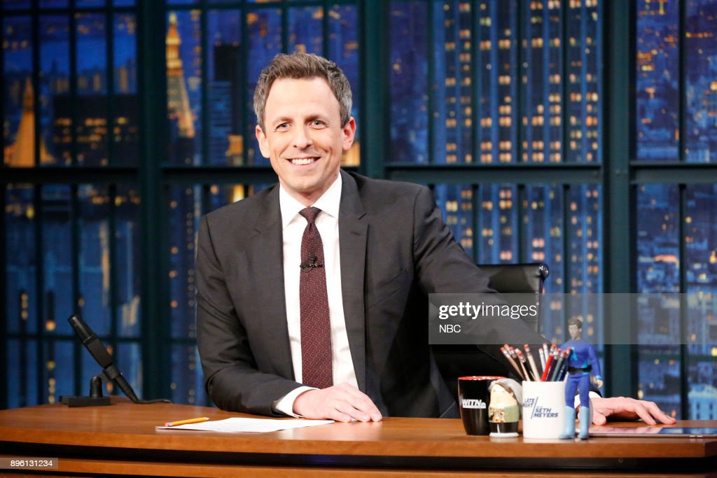 "NBC's ""Late Night With Seth Meyers"" With Guests Seth MacFarlane, Karlie Kloss"