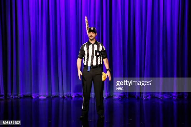 Ian Morgan as NFL referee during the 'Late Night Casserole' sketch on December 19 2017