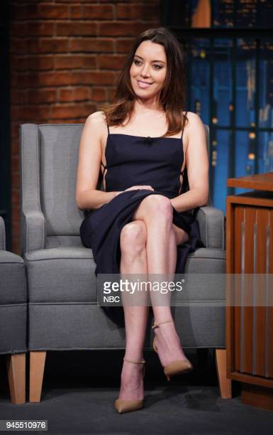 Actress Aubrey Plaza during an interview on April 12 2018