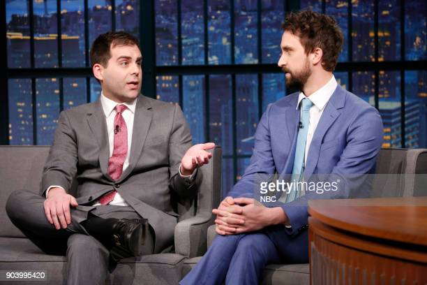 Actors Jake Weisman and Matt Ingebretson during an interview on January 11 2018