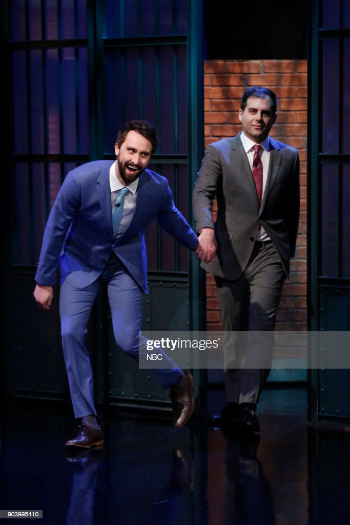 Actors Matt Ingebretson and Jake Weisman arrive on January 11, 2018 --
