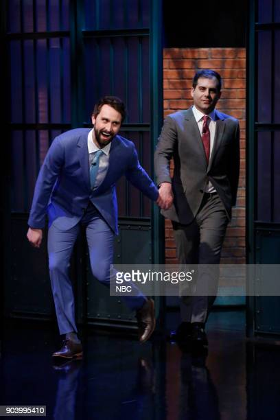 Actors Matt Ingebretson and Jake Weisman arrive on January 11 2018