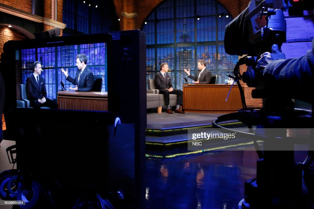 Jake Tapper during an interview with host Seth Meyers on January 11, 2018 --