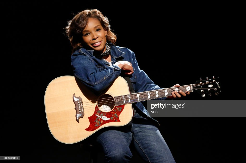 Writer, Amber Ruffin, during the 'Sneaky Dianne' sketch on January 11, 2018 --