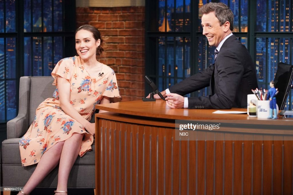 "NBC's ""Late Night With Seth Meyers"" With Guests David Duchovny, Megan Boone, Jillian Jacqueline"