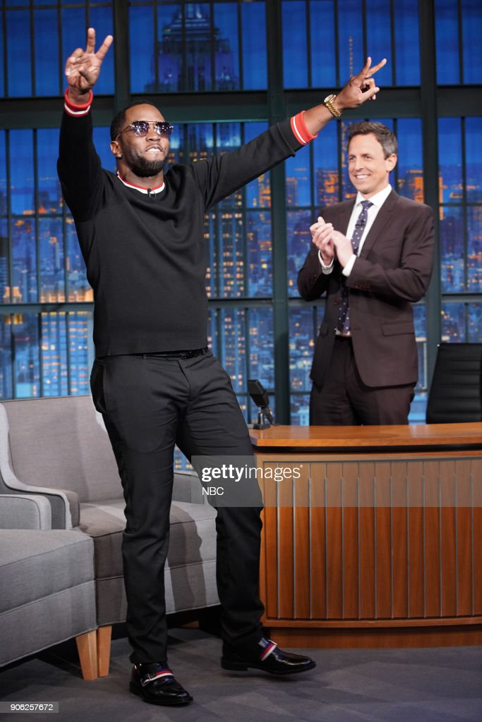 "NBC's ""Late Night With Seth Meyers"" With Guests Sean ""Diddy"" Combs, Luke Evans, Nicole Sullivan"