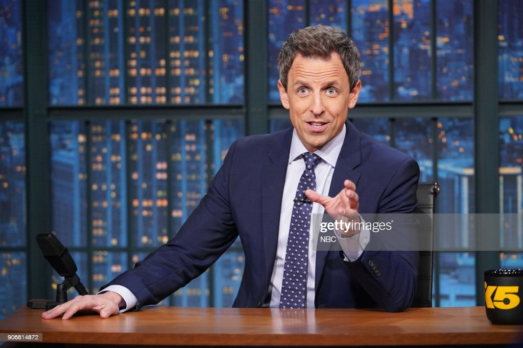 "NBC's ""Late Night With Seth Meyers"" With Guests Catherine Zeta-Jones, Carrie Brownstein, Glen Hansard"