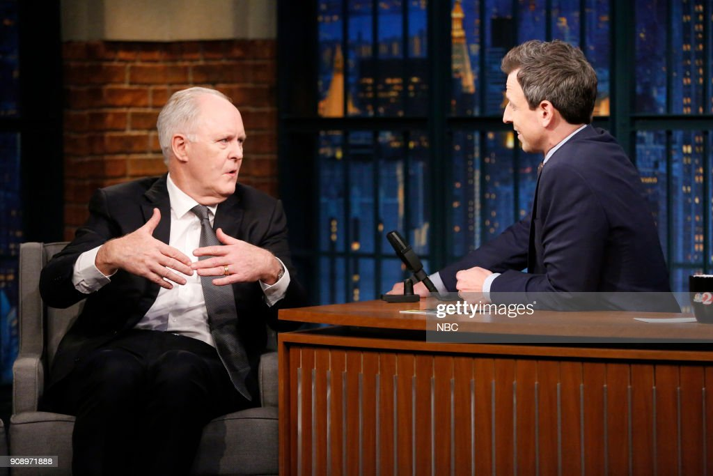 "NBC's ""Late Night With Seth Meyers"" With Guests John Lithgow, Selma Blair, Derek Waters"