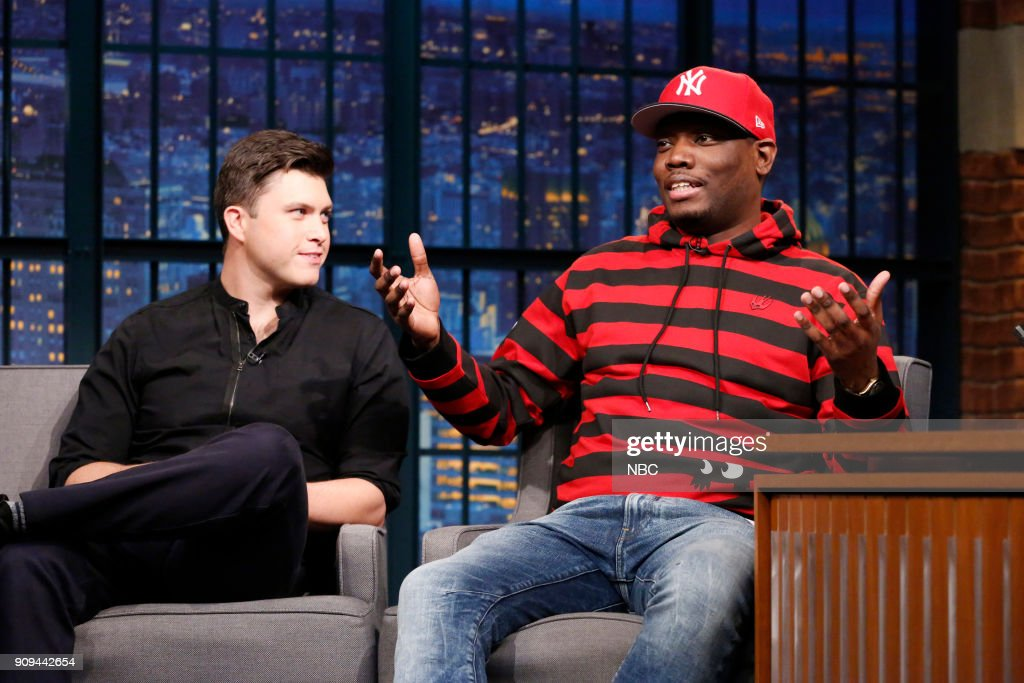"NBC's ""Late Night With Seth Meyers"" With Guests Michael Che & Colin Jost, Jack Antonoff, ASHLEY MCBRYDE"