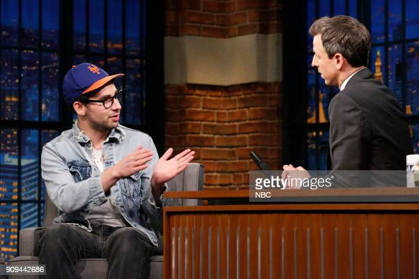 Musician Jack Antonoff during an interview with host Seth Meyers on January 23 2018
