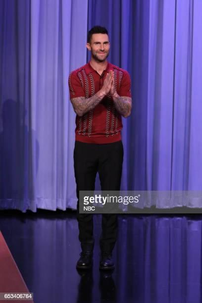 Singer Adam Levine arrives on March 14 2017