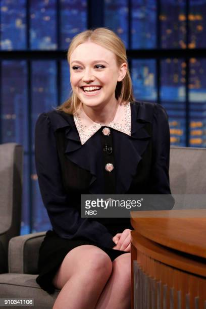 Actor Dakota Fanning during an interview on January 25 2018