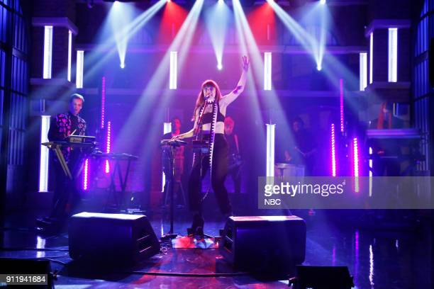 Musical guest Kimbra performs on January 29 2018