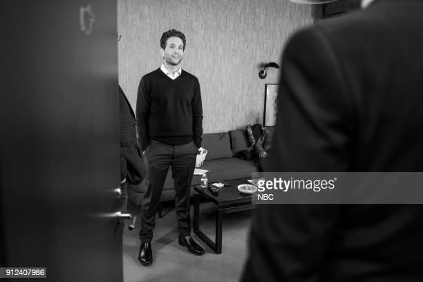 MEYERS Episode 643 Pictured Actor Glenn Howerton backstage on January 30 2018