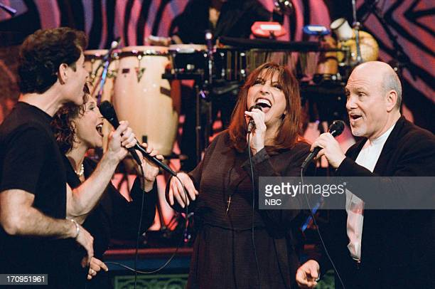 Alan Paul Janis Siegel Cheryl Bentyne Tim Hauser of musical guest The Manhattan Transfer perform on March 1 1995