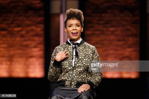 Writer Amber Ruffin during the sketch 'Amber Says What' on January 30 2018