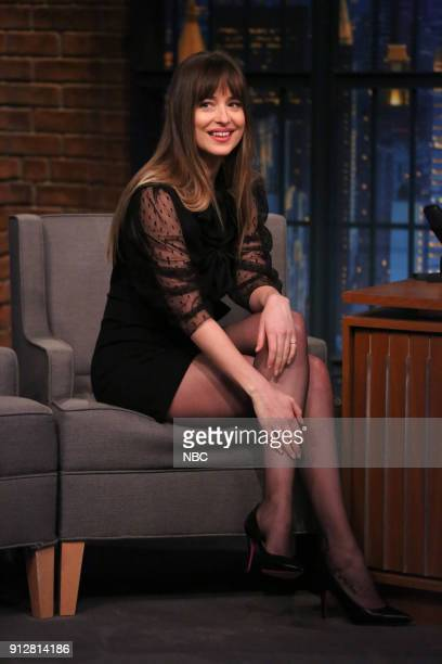 Actress Dakota Johnson during an interview on January 31 2018