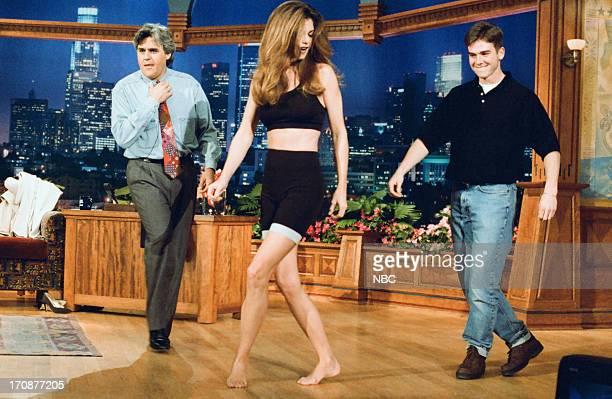 Host Jay Leno model Kathy Ireland exercise on March 3 1995