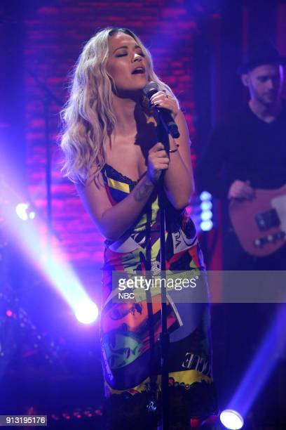 Musical guest Rita Ora performs on February 1 2018